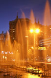 Fountain in Almaty. Evening. Kazakhstan Royalty Free Stock Photos