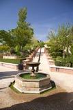 Fountain at Almeria castle. Public access castle of Almeria city in Andalusia Spain Royalty Free Stock Image