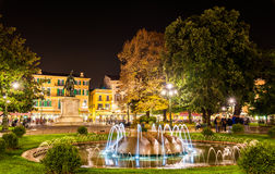 The fountain of the Alps on Piazza Bra Royalty Free Stock Image