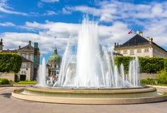 Fountain in Amaliehaven garden in Copenhagen Royalty Free Stock Photos