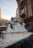 The fountain of Amenano, Catania Royalty Free Stock Photos