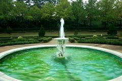 Fountain&garden, île volcanique de Jeju Images libres de droits