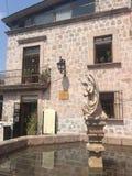 Fountain of the Angel, Morelia, Michoacan stock photos