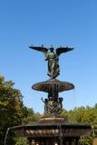 Central Park Fountain Statue Stock Photo
