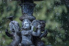 Fountain, Angel, Water, Statue Royalty Free Stock Image