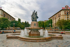 Free Fountain Art On Central Embankment In Volgograd Royalty Free Stock Photography - 82321317