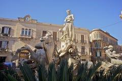 Fountain of Artemis, Syracuse Royalty Free Stock Photo