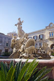 Fountain of Artemis, Syracuse Stock Photo