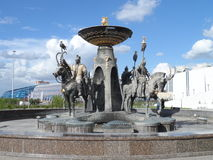 Fountain in Astana Stock Photography