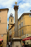 Fountain of the Augustins and the Convent of Augustins, Aix-en-P. Rovence, France Royalty Free Stock Photography