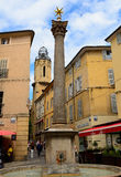 Fountain of the Augustins and the Convent of Augustins, Aix-en-P. Rovence, France Royalty Free Stock Image