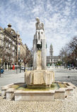 Fountain on Avenida dos Aliados Stock Image