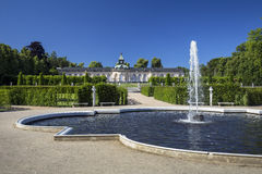 Fountain in the background of the palace Bildergalerie Stock Photos