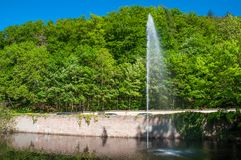 Fountain in Bad Harzburg in Germany. Fountain in town of Bad Harzburg in Germany stock photo