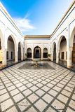 Fountain in Bahia Palace,Marrakesh,Morocco.  Stock Photo
