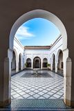 Fountain in Bahia Palace,Marrakesh,Morocco.  Royalty Free Stock Images