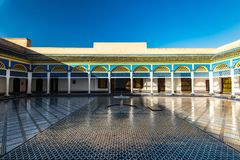 Fountain in Bahia Palace,Marrakesh,Morocco.  Stock Images