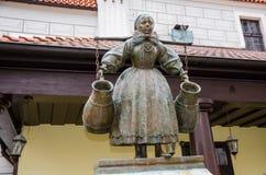 Fountain of Bamberka. Water fountain depicting a Bamber woman - Old Market Square, Poznań, Poland Royalty Free Stock Photos