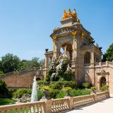 Fountain in Barcelona Royalty Free Stock Photography