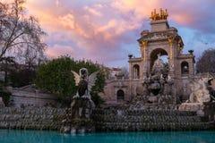 Fountain in Barcelona Stock Photos