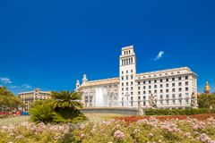 Fountain in Barcelona, Spain Stock Images
