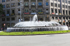 Fountain in  Barcelona Royalty Free Stock Photos