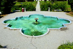 Fountain in Baron von Brukenthal Palace in Avrig, Transylvania. In Avrig there are a collection of historical monuments.Centuries XI - XVI Stock Images