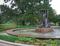 Fountain in Bastejkalns park. Riga. Latvia Royalty Free Stock Photo