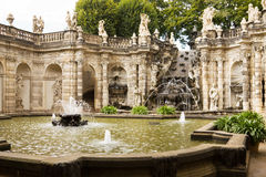 The fountain Bath of nymphs in Zwinger Royalty Free Stock Image