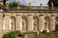 The fountain Bath of nymphs in the Zwinger. The Zwinger is a palace in Dresden, eastern Germany stock photos