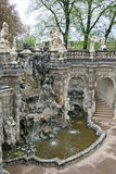 The fountain Bath of nymphs at Zwinger palace in Dresden, Germany Royalty Free Stock Photo