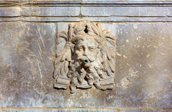 Fountain with a Bearded Man's Face Stock Image