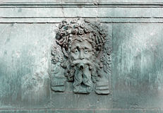 Fountain with a Bearded Man's Face Royalty Free Stock Image