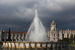 Fountain at Belém Royalty Free Stock Photography