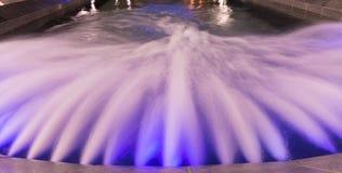 Fountain, Belgrade Serbia. Beautiful multicolored fountain at Nikola Pasic Square in Belgrade, long exposure Royalty Free Stock Images