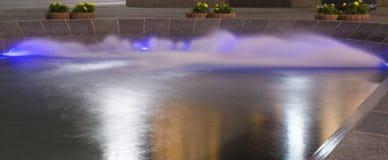 Fountain, Belgrade Serbia. Beautiful fountain, night photography, long exposure, Belgrade Serbia Stock Image