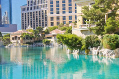 Fountain in Bellagio Hotel in Las Vegas Royalty Free Stock Photography