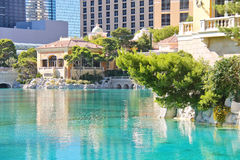Fountain in Bellagio Hotel in Las Vegas Royalty Free Stock Images