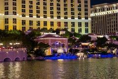 Fountain in Bellagio Hotel in Las Vegas Royalty Free Stock Photo