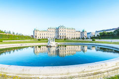 Fountain in Belvedere palace Royalty Free Stock Photography