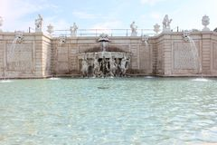 Fountain in the Belvedere park Royalty Free Stock Images