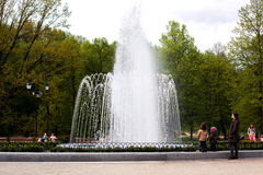 Fountain in Bernardinai Garden Stock Photo
