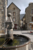 Fountain of Besse en Chandesse in France Royalty Free Stock Image