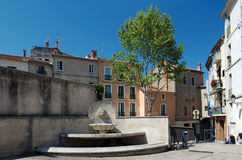 Fountain in Beziers city Stock Photography
