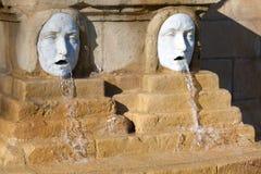 Fountain in Bilbao royalty free stock image