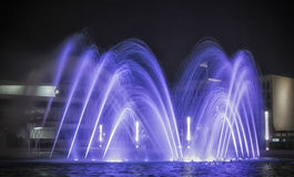 A Fountain. A blue fountain by night Stock Photography