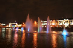 Fountain on the Bolotnaya Square Royalty Free Stock Images