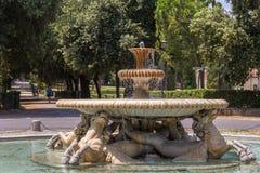 Fountain in the Borghese gardens. Royalty Free Stock Photos