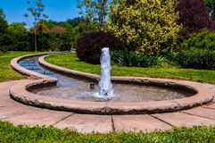 Fountain in botanical garden Stock Photos