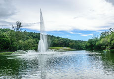 Fountain at the bottom of the mountain. Located at the municipality park at hatyai Stock Images